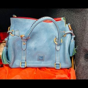 Dooney & Bourke light blue leather satchel